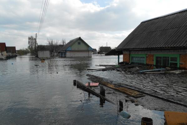 За минувшие сутки уровень воды в реке Ишим снизился на один сантиметр (978 сантиметров)