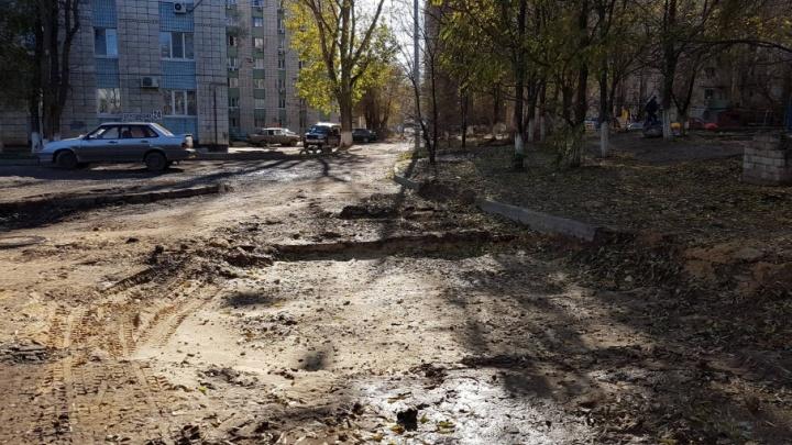 В Волгограде через месяц вспомнили о незакопанной траншее