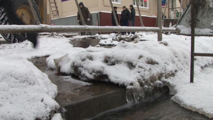 Рабочая неделя в Архангельске началась с массовых отключений воды