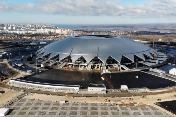 Первый матч на «космическом» стадионе состоится уже 28 апреля