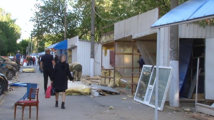 В Волгограде сносят рынок на Новороссийской