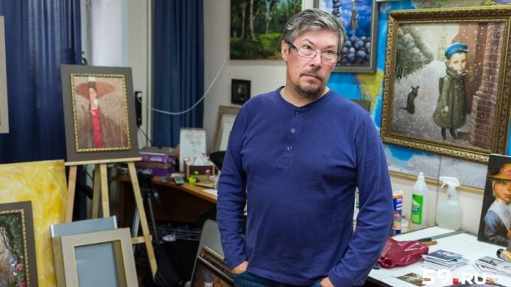 Мастерские пермских художников: Дмитрий Козлов и его влюбленный взгляд на мир