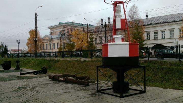 В уличной экспозиции Северного морского музея появился новый экспонат