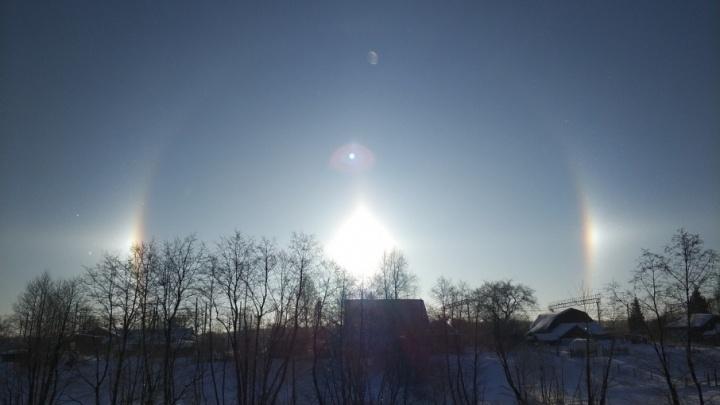 В небе над Ярославлем зажглось два солнца