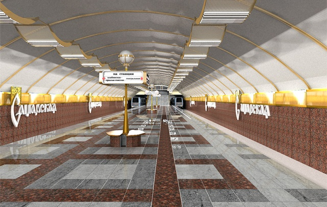 В Самаре вход на станцию метро «Самарская» планируют оформить в виде шайбы