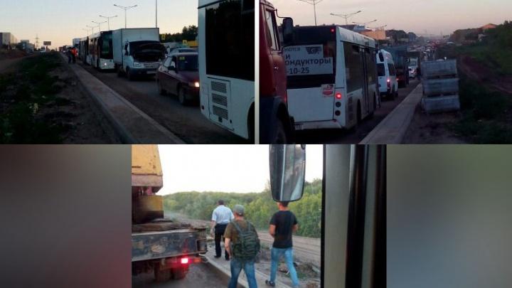 В Самаре произошел очередной транспортный коллапс на Московском шоссе