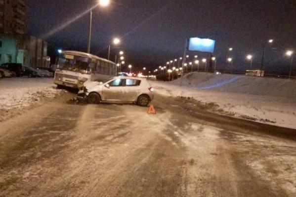 Авария произошла на улице Труда в Северодвинске
