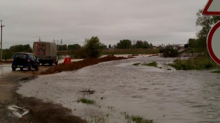 В Викулово река Ишим затопила 33 дома: в село вылетел губернатор