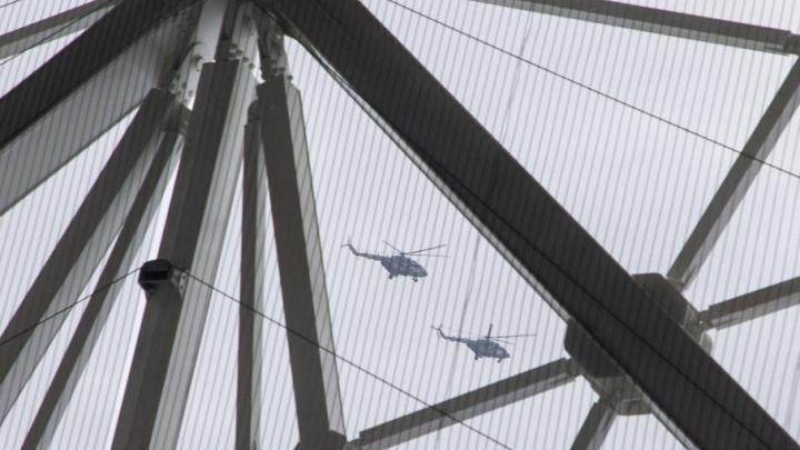 Боевые вертолеты начали тренироваться к ЧМ-2018 над центром Волгограда