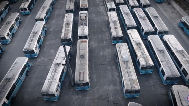 В Волгограде сняли жуткое видео про «кладбище троллейбусов»
