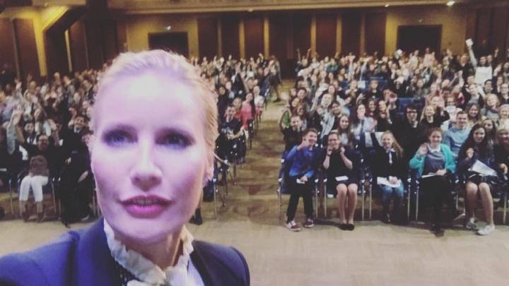 Елена Летучая рассказала ярославским школьникам, как попасть на телевидение