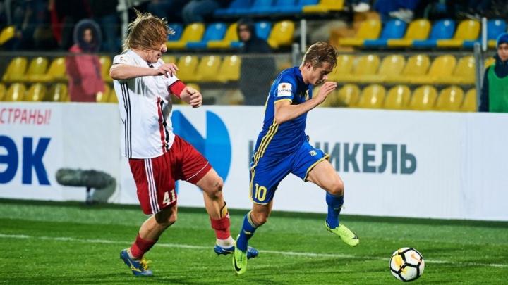 Упустили шанс в концовке: «Амкар» на выезде сыграл вничью с «Ростовом»