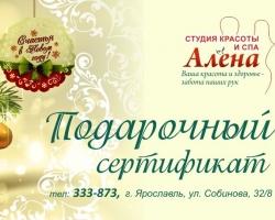 При заказе 5 новогодних сертификатов – 6-й в подарок