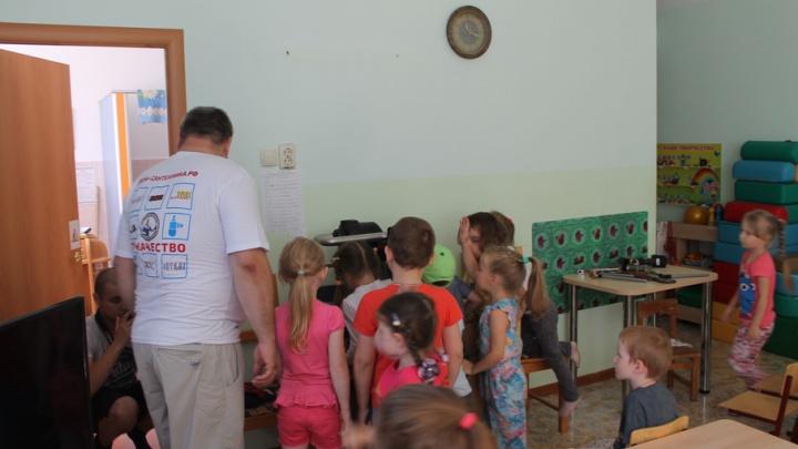 В самарском детском саду дети сами отремонтировали трубу