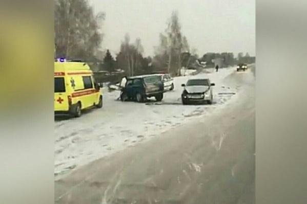 Массовая авария произошла сегодня в районе полдевятого утра