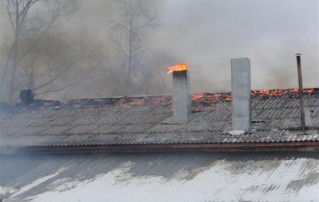 В Котласе сгорела общественная баня