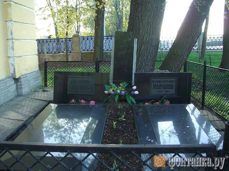 могила супруга Савиной - миллионера и мецената Молчанова