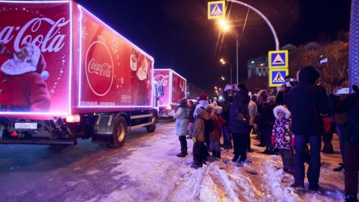 На этой неделе в Тюмень заглянет «Рождественский караван»  Coca-Cola