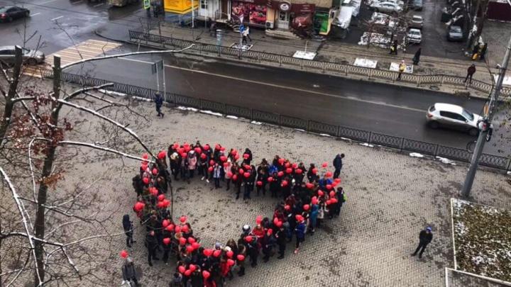 Ростовские студенты передали сердечный привет мамам