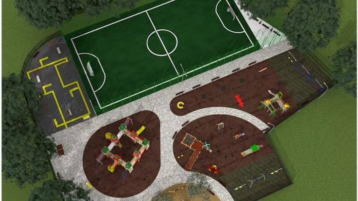 В парке Чуковского построят новое футбольное поле