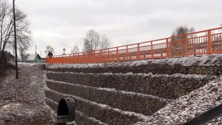 В Устьянском районе появился современный арочный мост