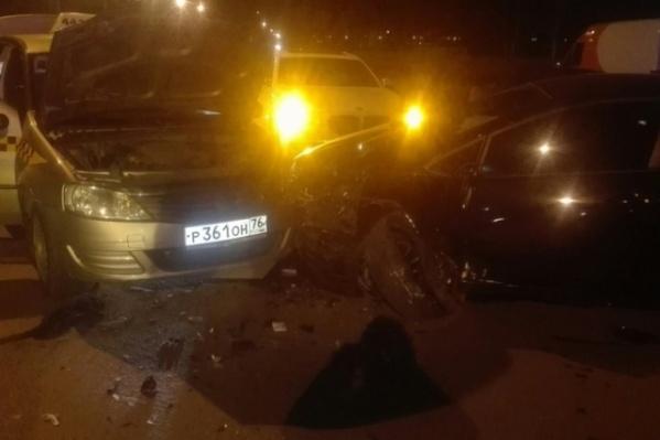 Авария произошла поздно вечером