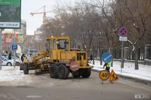 """Дороги Екатеринбурга посыпают """"Бионордом"""" с 2008 года."""