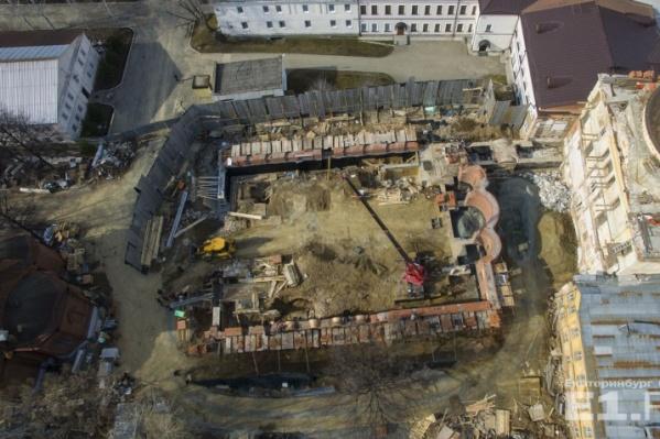 Успенская церковь исчезла с территории монастыря.
