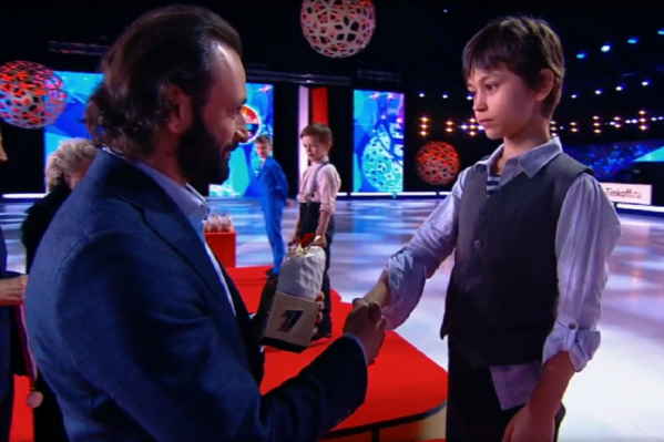 Марк Лукин занял третье место шоу «Ледниковый период. Дети»
