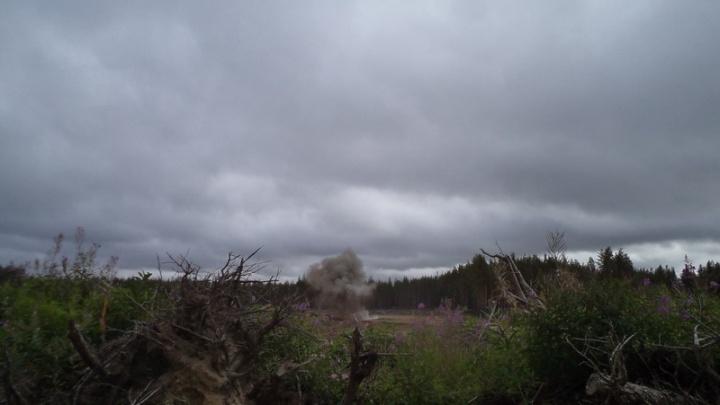 В Архангельске школьники нашли ящик с минами