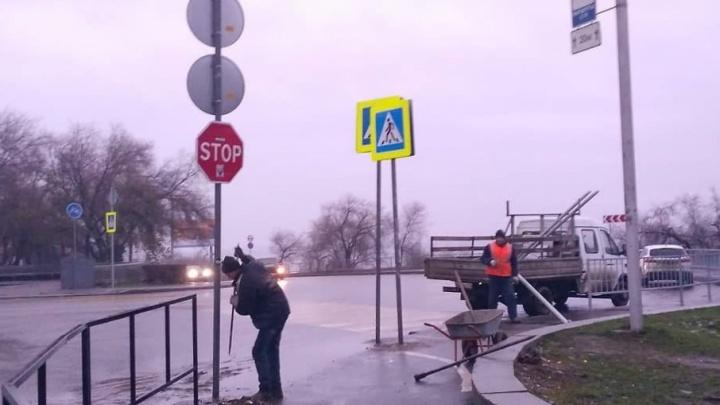 В центре Волгограда наштамповали новых знаков