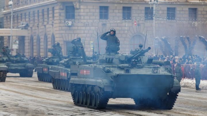 Волгоградские танки проедут по центру города в резиновых «башмаках»