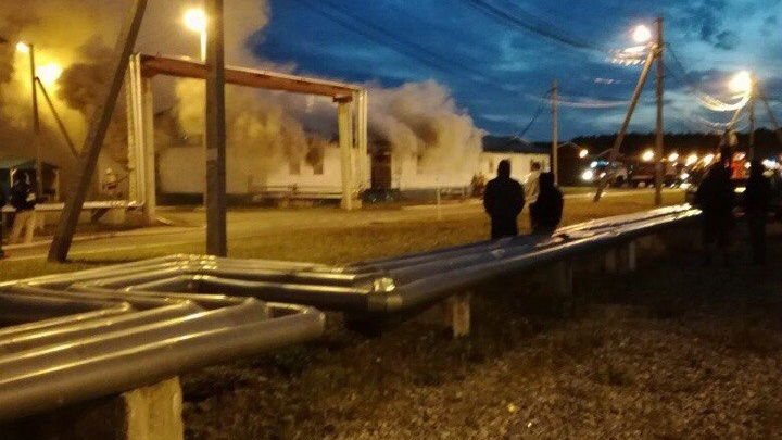 В тобольском Вахтовом городке произошел пожар