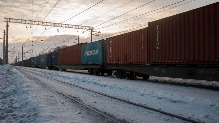 Под Тюменью грузовой поезд насмерть сбил женщину