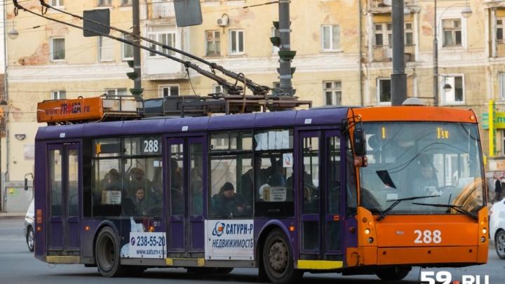 В Перми изменятся маршруты трех троллейбусов и одного трамвая. Карта