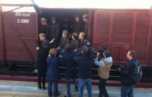 Для реконструкции фото нашли такой же вагон.