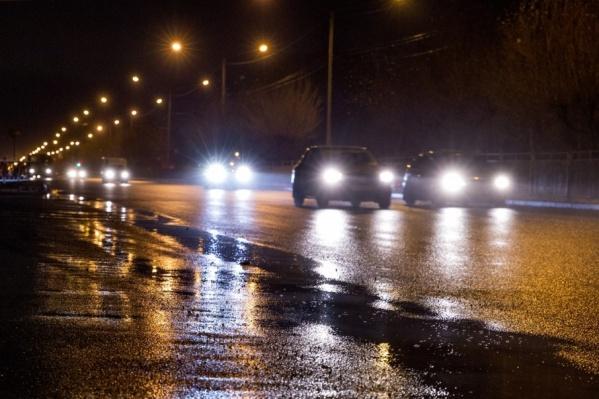 Авария произошла на тёмной дороге
