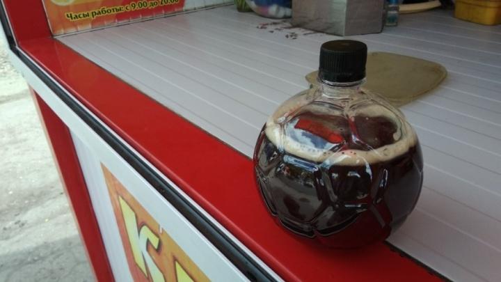 В Самаре начали разливать квас в «мундиальные» бутылки в форме футбольного мяча