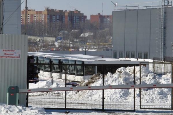 Автобусы хранят на спецстоянке