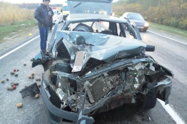 ВАЗ получил серьезные механические повреждения