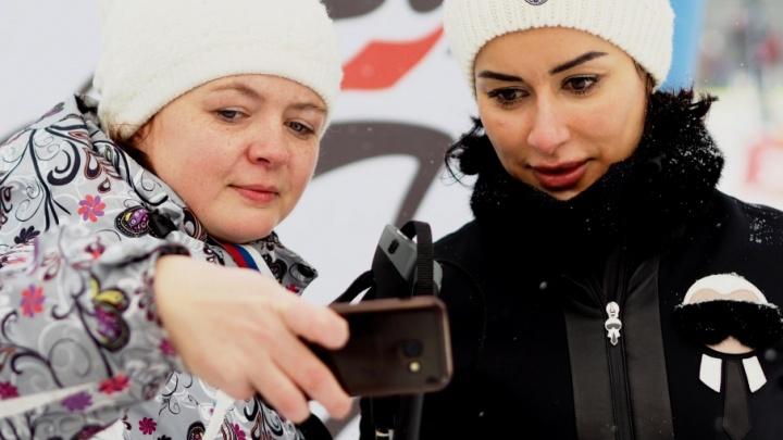 Тина Канделаки впервые встала на лыжи на большом Дёминском марафоне