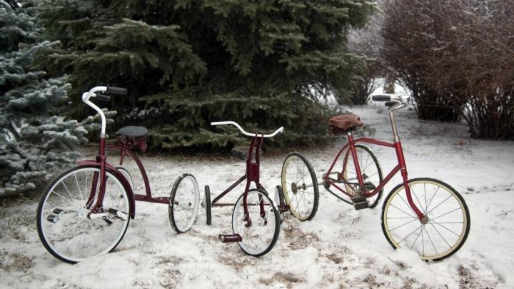 Назад в СССР: волгоградец катается на коллекции трехколесных ретровелосипедов