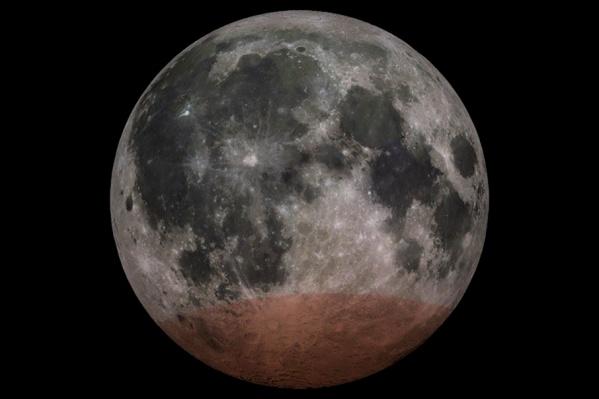 Луна на четверть погрузится в тень Земли