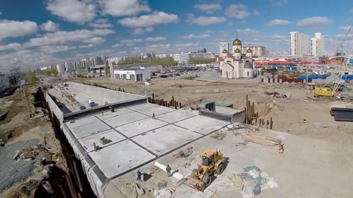 Самарец снял видео строительства развязки на проспекте Кирова и Московском шоссе