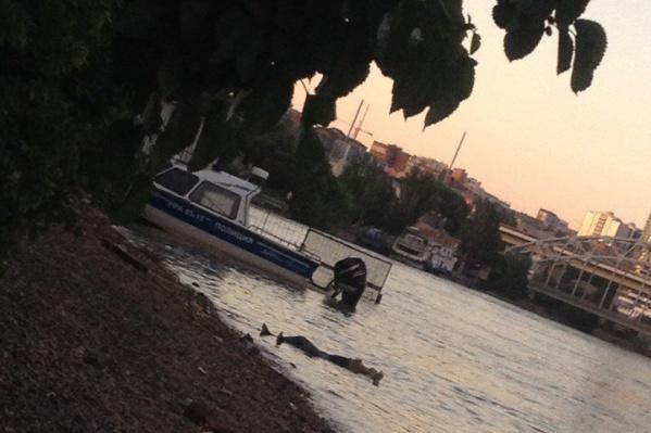 Тело на берег доставил полицейский катер