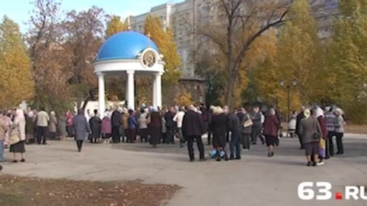 На Ильинской площади в Самаре обновили покрытие и поставили детскую площадку