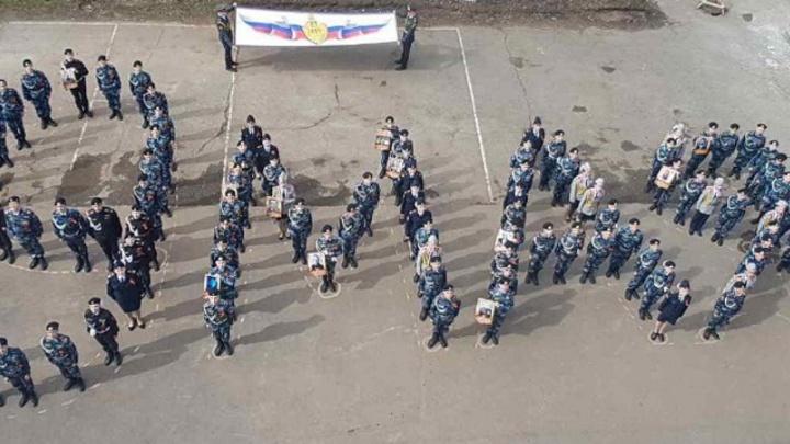 Пермские школьники устроили флешмоб к 9 Мая