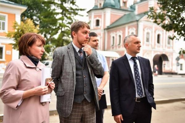 Михаил Кудряшов (в центре) — главный архитектор Ярославской области