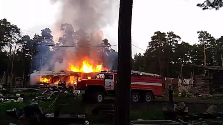 Пожар в городском бору встревожил челябинцев