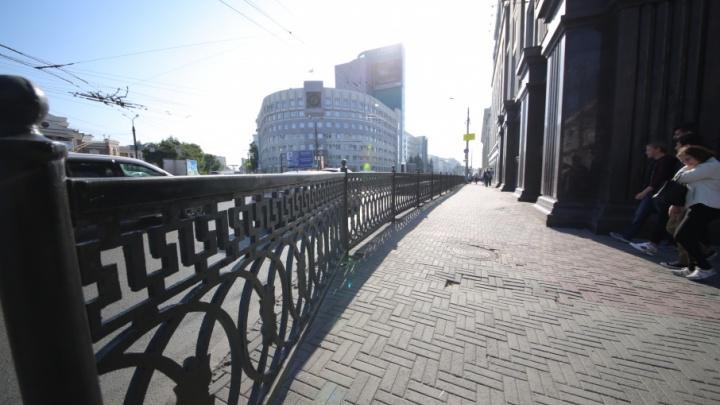 Чугунное ограждение в центре Челябинска решили растянуть на километр